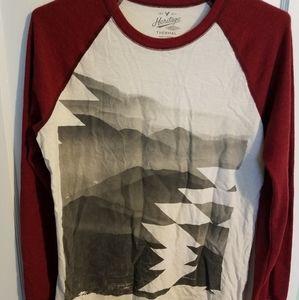 American Eagle Brand Long Sleeve Printed Thermal